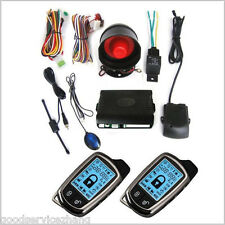 CAR SECURITY ALARM SYSTEM SET/KIT W/SIREN+LCD PAGER Anti-theft