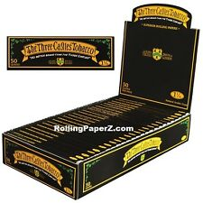 Three Castles 1 1/4 Size Cigarette Rolling papers FULL BOX/ 24 Packs/ 50 leaves