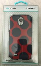 X-Doria Galaxy S4 Impact Snap Protect Cell Phone Case Red Blue Polka Dot NEW #DX