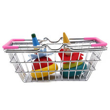Mini Shopping Basket with Handles Kids Food Pretend Role Play Kids Child Toy LH