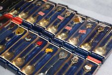 bulk spoons x 22 Exquisite made in Great Britain English spoons original boxes
