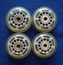 Rollerblade Inline Hockey Fitness Skate Wheels (70mm / 78A) + Bearings 4-Pack
