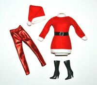 Barbie Doll Clothes Lot, Eledoll Santa Claus Holiday Christmas Outfit Set