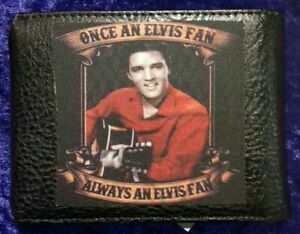 Elvis Presley  Genuine Italian Leather Wallet black
