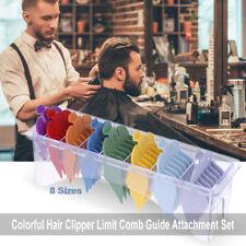 Pro 8 Sizes Electric Hair Clipper Limit Comb Haircut Guide Attachment Comb Set