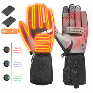 ROCKBROS Heated Cycling Gloves Winter Warm Motorcycle Electrical Heating Gloves