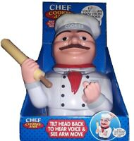 New The Original Chef Cookie Jar Talking & Animated Plastic FunDamental Too 2002