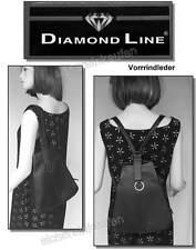 Damen-Rucksack oder Schultertasche SCHWARZ #1721-s /2in1 Vollrindleder