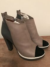 Stunning Zomp Beau Coops Leather Peep Toe Boots Heels 41 9.5 10 RRP $400