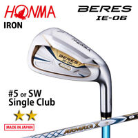 2-Star HONMA GOLF JAPAN BERES IE-06 SINGLE IRON #5 or SW ARMRQ X43 2018