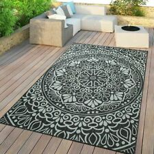 Modern Oriental Rug Flatwave Kitchen Patio Terrace Mats Mandala Grey Floor Mats