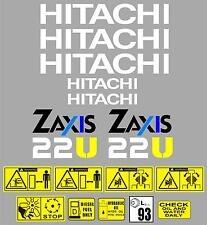 Decal Sticker Graphics set for: HITACHI ZAXIS 22U. Mini Digger Pelle Excavator
