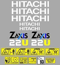 Décalque Autocollant Graphiques ensemble pour: HITACHI Zaxis 22U. Mini Digger pelle pelle