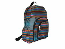 3313 Woven Peru Manta Back Pack 18x15 Cotton Artisan Fair Trade Assorted Colors