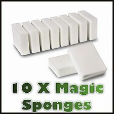 10 Pack Magic Cleaning Sponge Magic Eraser Stain Remover Pad Uk Seller New