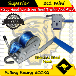Superior 600KG Boat Hand Winch 3:1 mini CAR BOAT TRAILER 4WD HAND WINCH