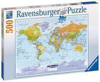 14755 Ravensburger Political World Map Jigsaw 500 pcs Puzzle Age 10 years+
