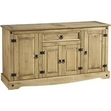 Corona 4 Door 1 Drawer Rustic Sideboard in A Distressed Waxed Pine