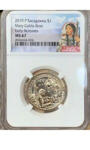 2019-P Sacagawea Mary Golda Ross NGC MS 67 * Early Releases *