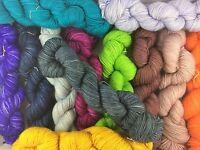 Caledonia Dyeworks Hand Dyed Sutherland Solids 50g hanks superwash/nylon
