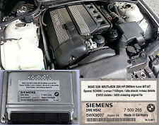 BMW M52TuB28 MS42 remapped ECU 205Hp without EWS and missing ABSsignal safe mode