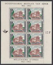 BELGIUM : 1962 Millenary of Ypres  sheetlet SG MS1840 MNH