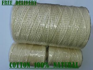 Natural Cotton Twine Horticultural Rope Ball Line Packthread Various Sizes