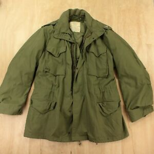 vtg 70s usa ALPHA INDUSTRIES cold weather field coat LARGE LONG m65 m-65 army