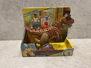 Imaginext Jurassic World Camp Cretaceous Carnotaurus 'Toro' & Darius BRAND NEW