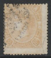 Spain - 1865, 2r Dull Orange stamp - Used - SG 91b