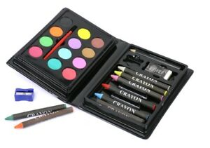 Kids Mini Painting Set Colouring Crayons and Paint Art Case Toddler Case