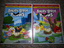 Angry Birds Toons Season 1 Volumes 1 and 2 DVD  BRAND NEW and sealed