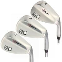 Ram Golf Pro Spin Stainless Wedge Set - 52, 56, 60 Wedges - Mens Right Hand