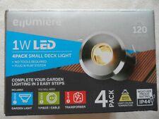 Ellumiere 1W LED 4 Pack Small Deck Light 120 Lumens BNIB