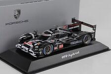 2015 Porsche 919 Híbrido Presentación negro negro 24h LE MANS 1:43 Spark WAP