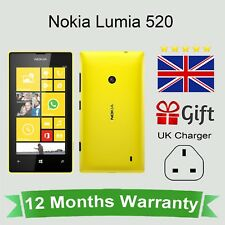 Unlocked Nokia Lumia 520 Microsoft Windows Phone - 8GB Yellow