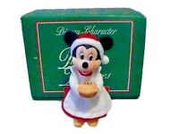 MINNIE MOUSE RARE  NEW PORCELAIN DISNEY GROLIER  COLLECTIBLE CHRISTMAS ORNAMENT