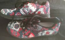 Day Of The Dead Shoes Skull Shoes Unisex mens 7 womans 9