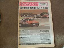 Motoring News 11 September 1980 Monza F2 GP Thruxton Aurora F1 Vallelunga WCM
