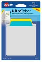 Avery-Dennison Writable Versatile Prime Tab - 12 Pack - 2 Sided - Smudge Free