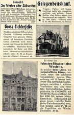 Immobilien in Berlin In einer der feinsten Strassen des Westens... Annonce 1899