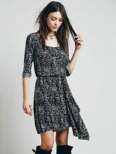 Free People Maise Mini Dress Size S Open Back Black Draped Floral