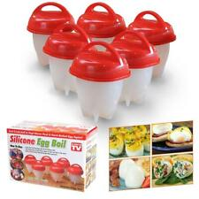 6pcs Egglettes Eggs Cooker Hard Boiled Egg with no Shell Eggies - As Seen on Tv