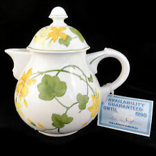 """GERANIUM Villeroy & Boch TEA POT 7.5"""" tall NEW NEVER USED made in Germany"""