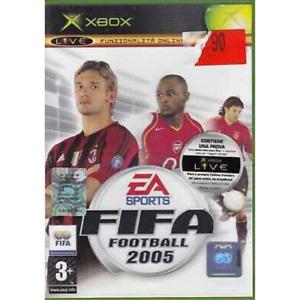 FIFA FOOTBALL 2005 XBOX OLD GIOCO USATO OTTIME CONDIZIONI ITALIANO CALCIO DVD CD