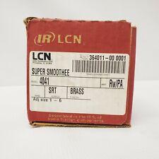 Lcn Super Smoothee 4041 RwPa Srt Screws Brass Non-Handed Adjustable Door Closer