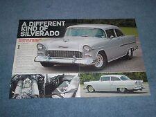 "1955 Chevy 210 Sedan Street Drag Car Article ""A Different Kind of Silverado"""