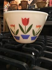 Vintage Fire King Tulip Mixing Bowl Ivory