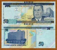 Honduras, 50 Lempiras, 2014, P-101b, UNC > Braille, New sig.