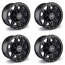"""Set 4 18"""" Vision 400 Incline Black Wheels 18x9 8x170 0mm Ford F250 F350 8 Lug"""